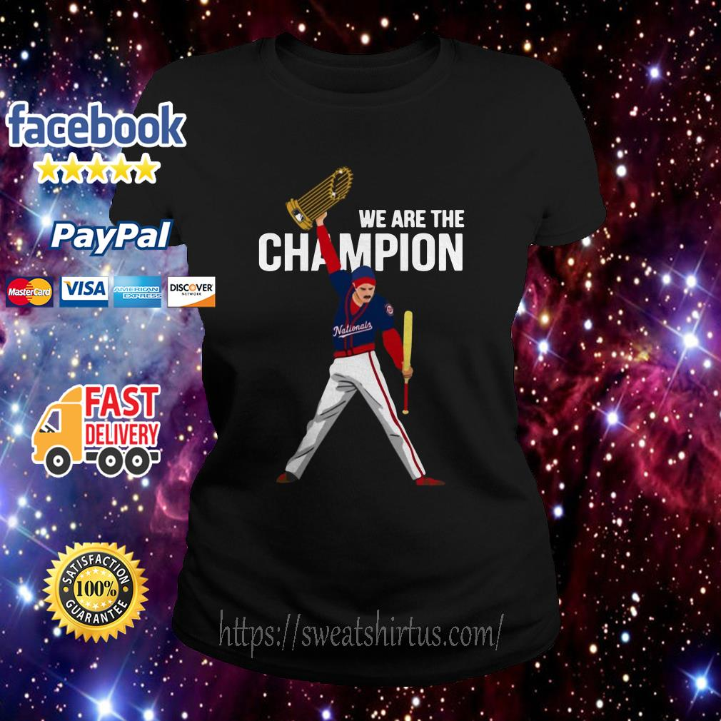 Nationals Freddie Mercury we are the champions Ladies Tee