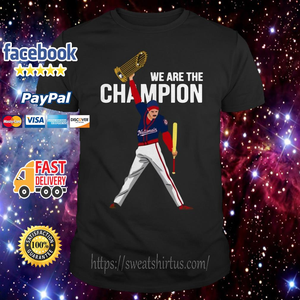 Nationals Freddie Mercury we are the champions shirt