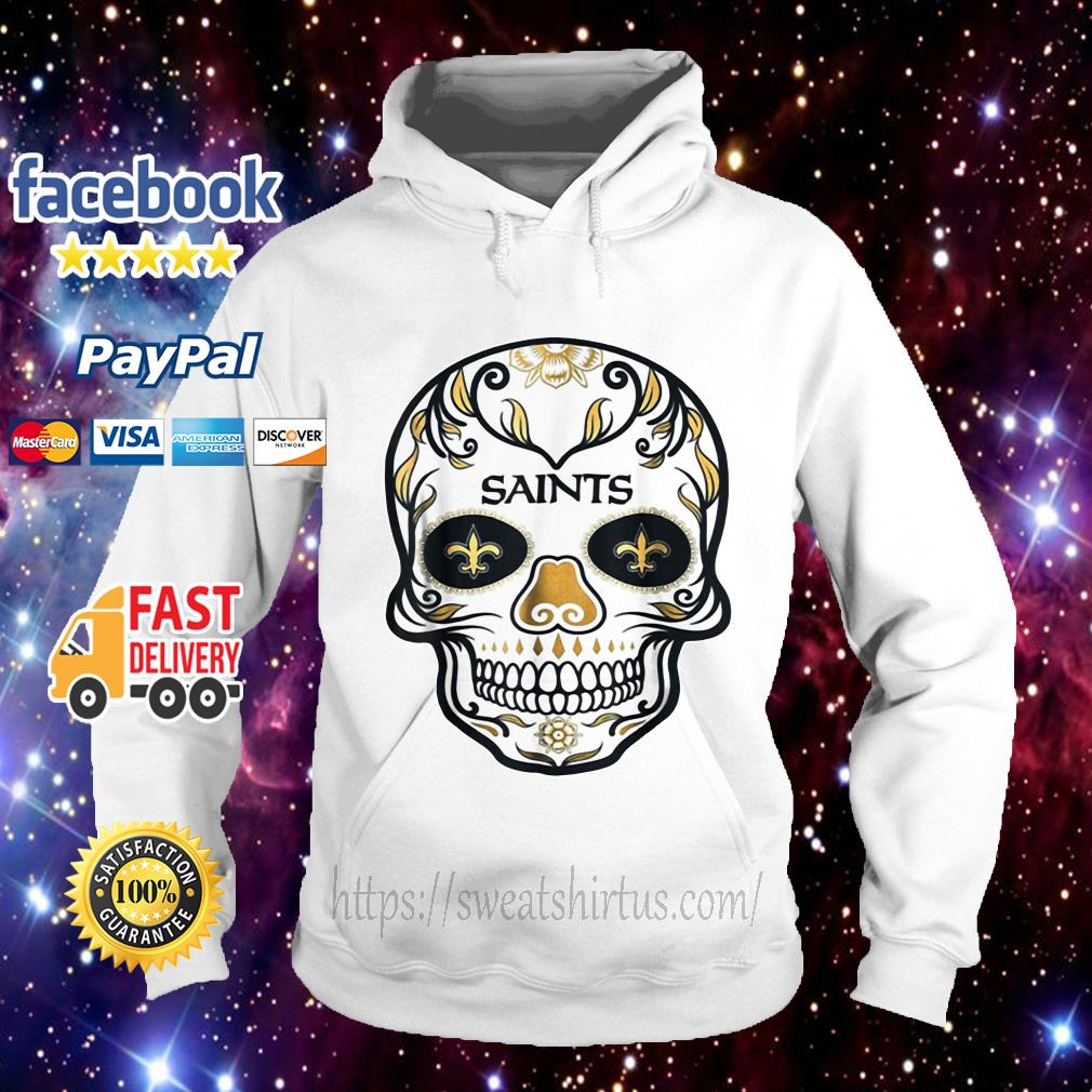 New Orleans Saints Skull tattoos Feel Dat Brees Football Hoodie