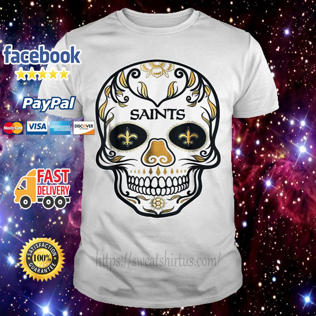 New Orleans Saints Skull tattoos Feel Dat Brees Football shirt
