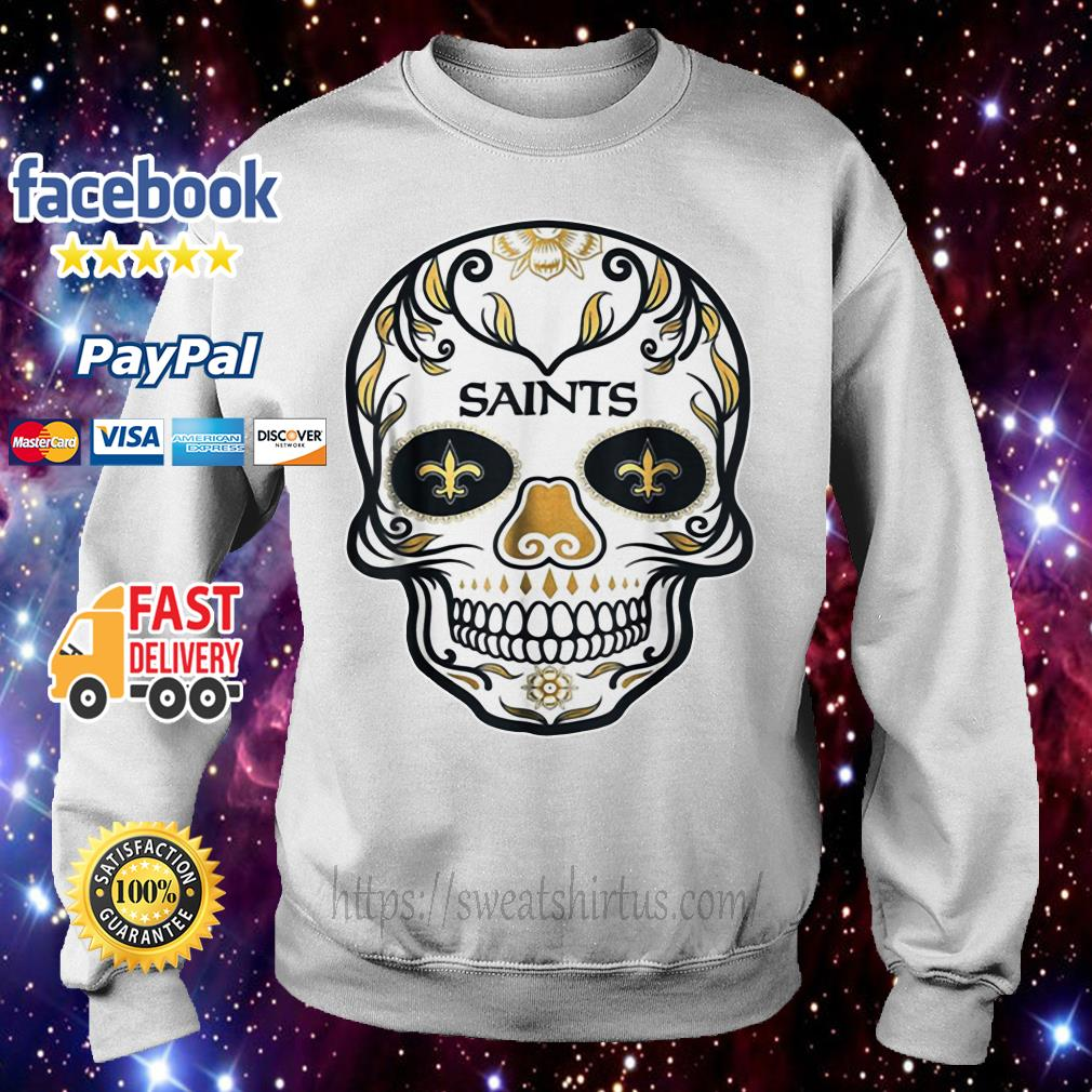 New Orleans Saints Skull tattoos Feel Dat Brees Football Sweater
