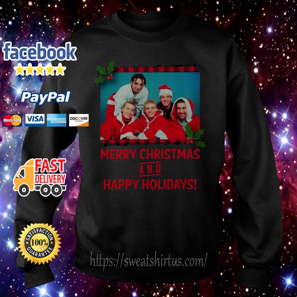 NSYNC Merry Christmas and happy holidays shirt, sweater
