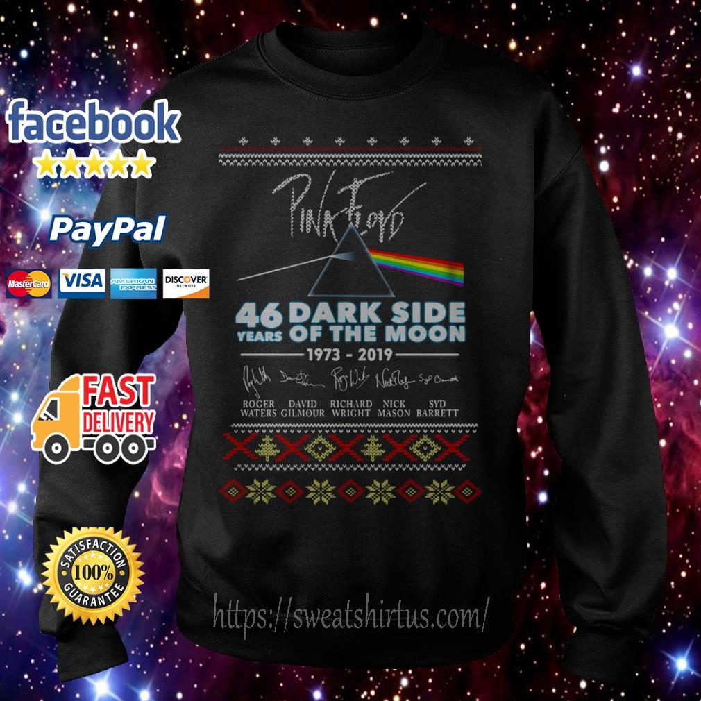 Pink Floyd 46 years of Dark Side Of The Moon 1973-2019 signature Christmas shirt, sweater