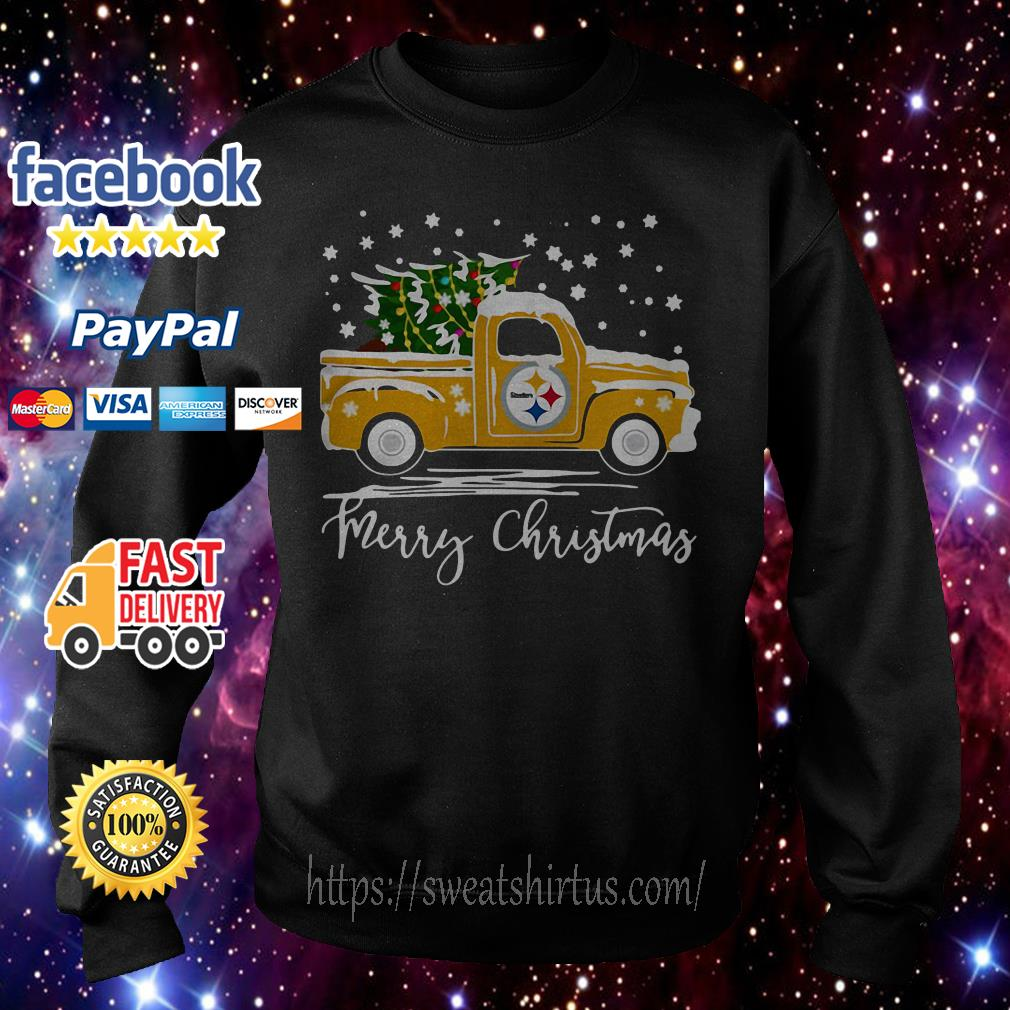Pittsburgh Steelers pickup truck Merry Christmas shirt, sweater