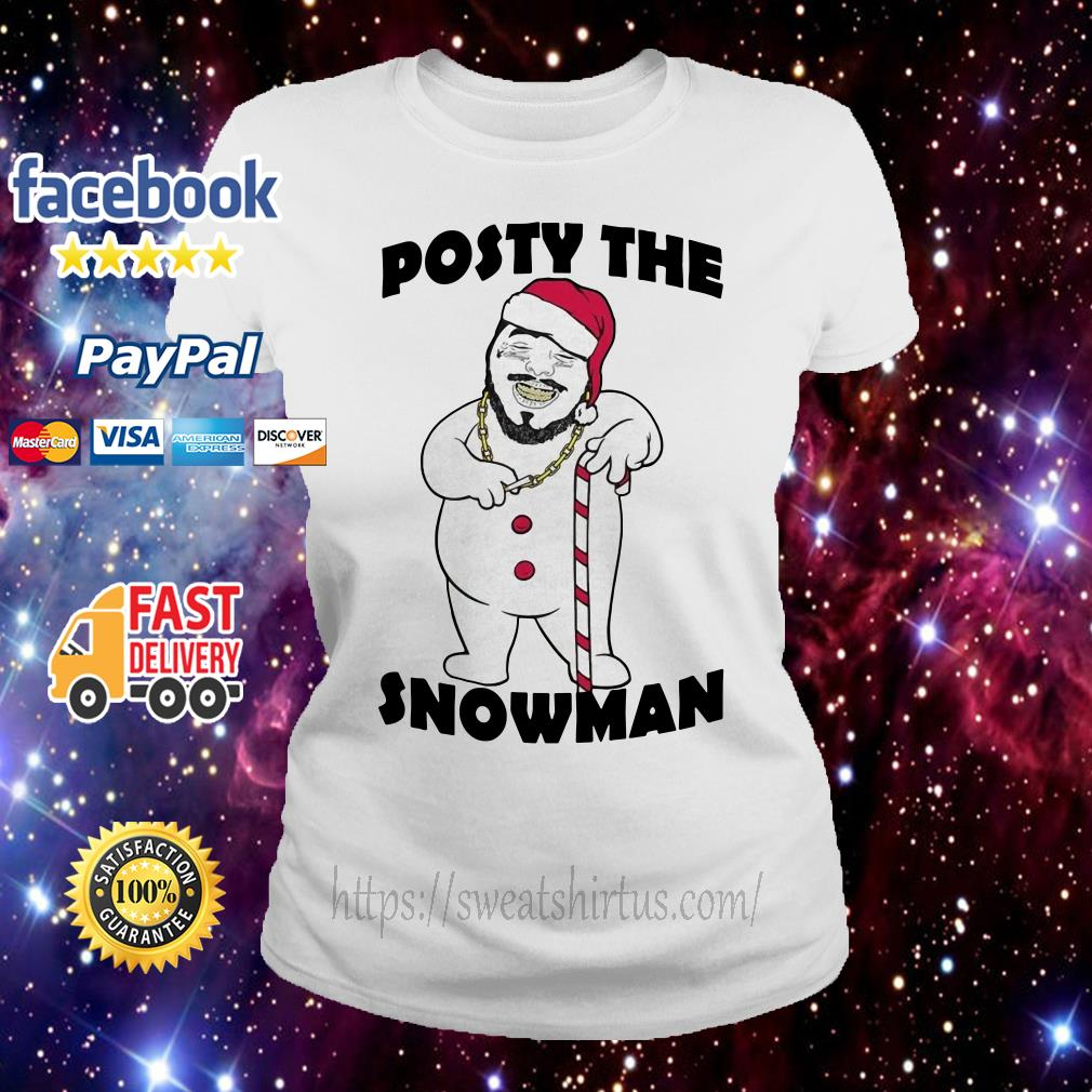 Post Malone posty the snowman Ladies Tee