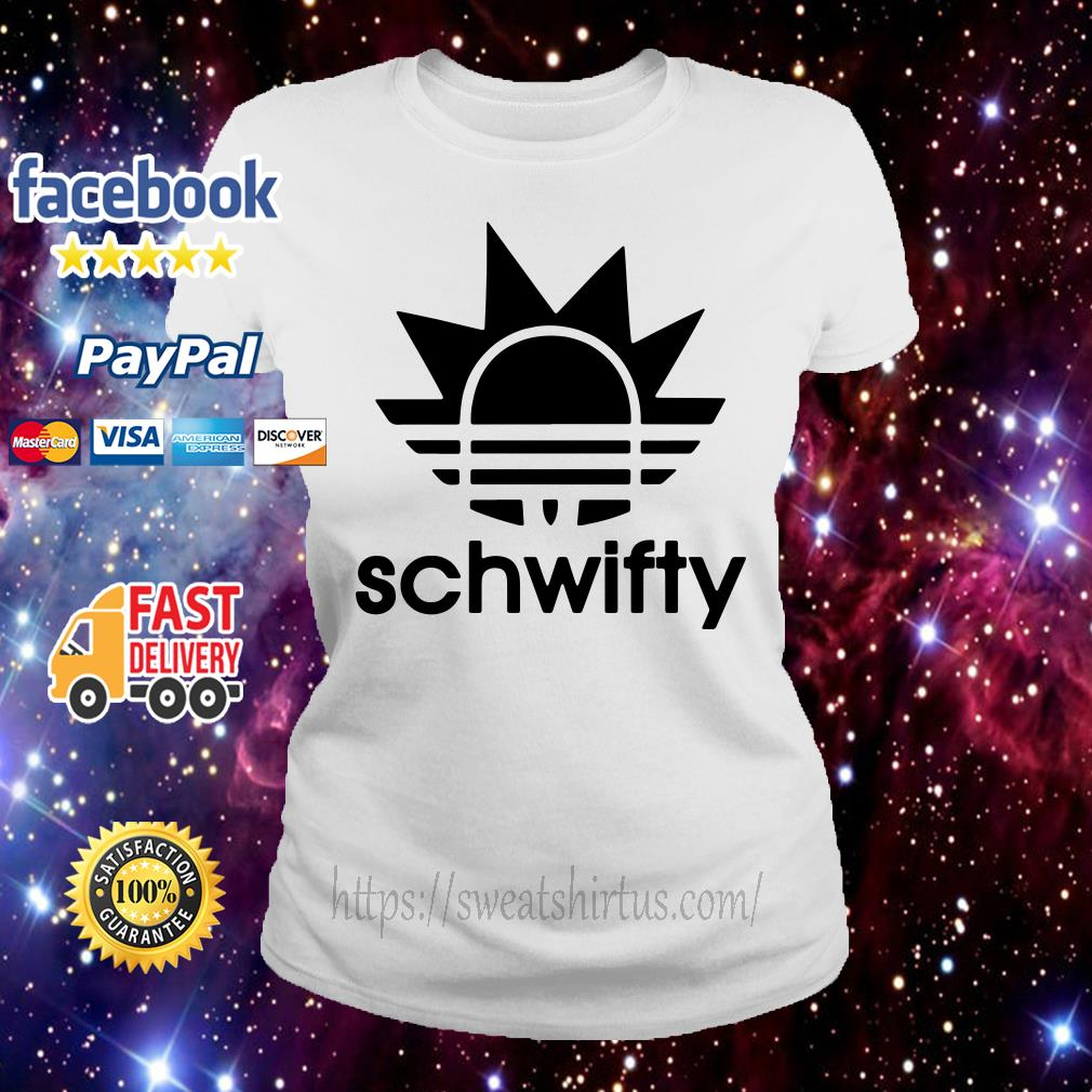 Schwifty Adidas Rick Sanchez Ladies Tee