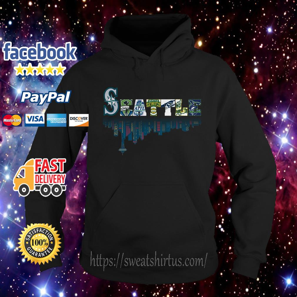 SEATTLE Seattle Mariners Seattle Sounders Seattle Thunderbirds and Seattle Supersonics Hoodie