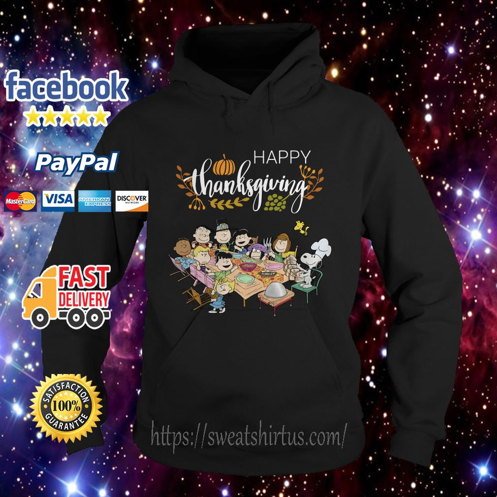Snoopy Peanuts with friends thanksgiving Hoodie