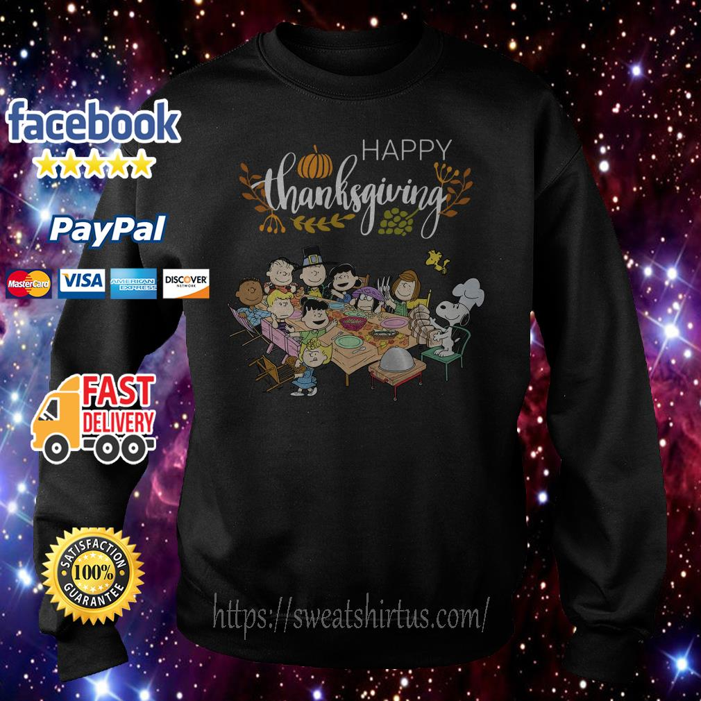 Snoopy Peanuts with friends thanksgiving Sweater