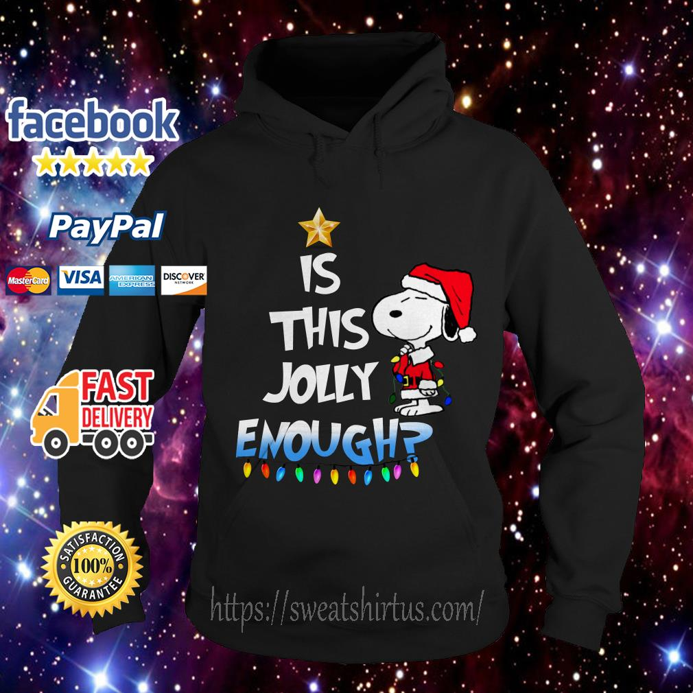 Snoopy Santa is this Jolly enough Christmas Hoodie
