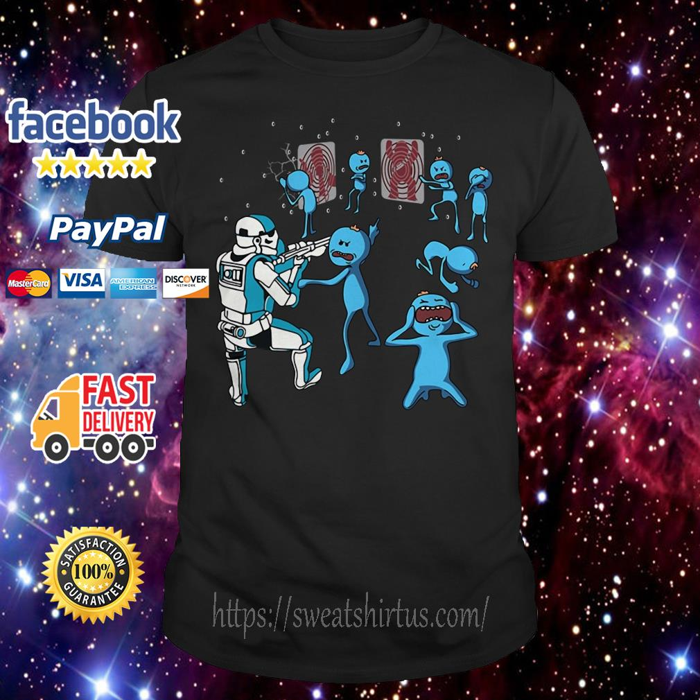 Star War Mr. Meeseeks and Stormtrooper shirt