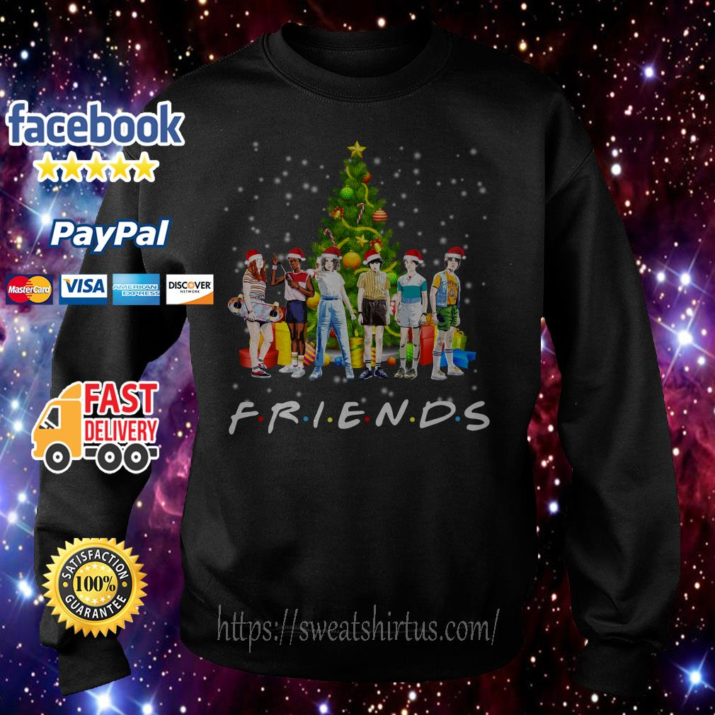 Stranger Things characters Friends Christmas tree shirt, sweater