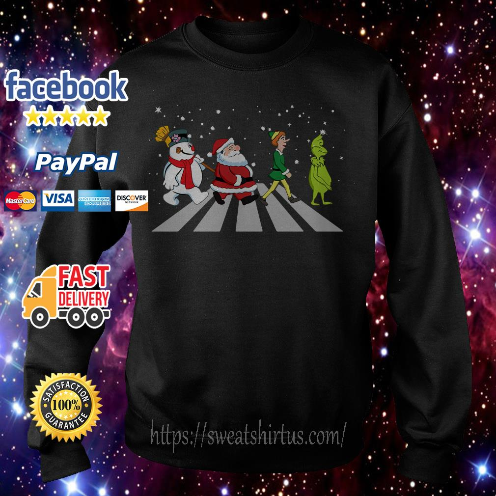 The Beatles Abbey Road Santa Claus Elf Grinch shirt, sweater