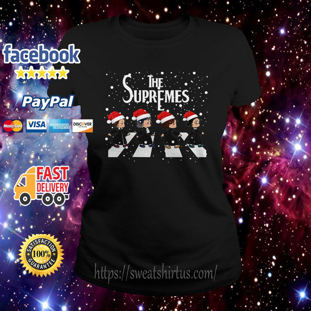 The Supremes The Golden Girls Abbey Road Santa signature Ladies Tee