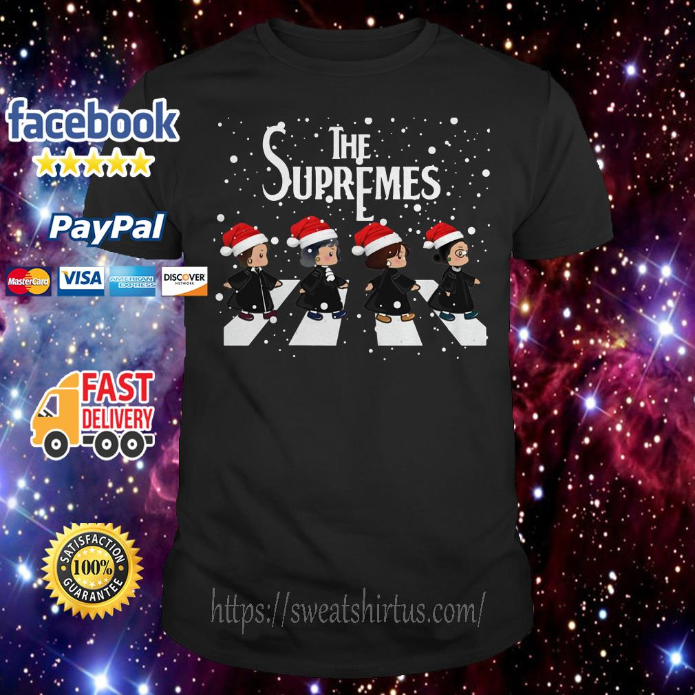 The Supremes The Golden Girls Abbey Road Santa signature guys shirt