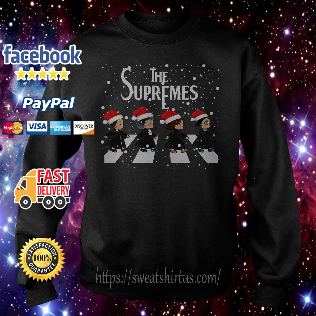 The Supremes The Golden Girls Abbey Road Santa signature shirt, sweater