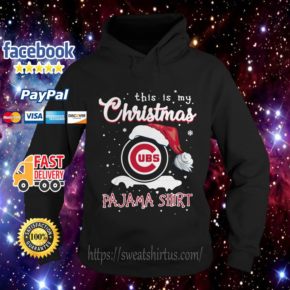 This is my Christmas Chicago Cubs Santa Pajama Hoodie