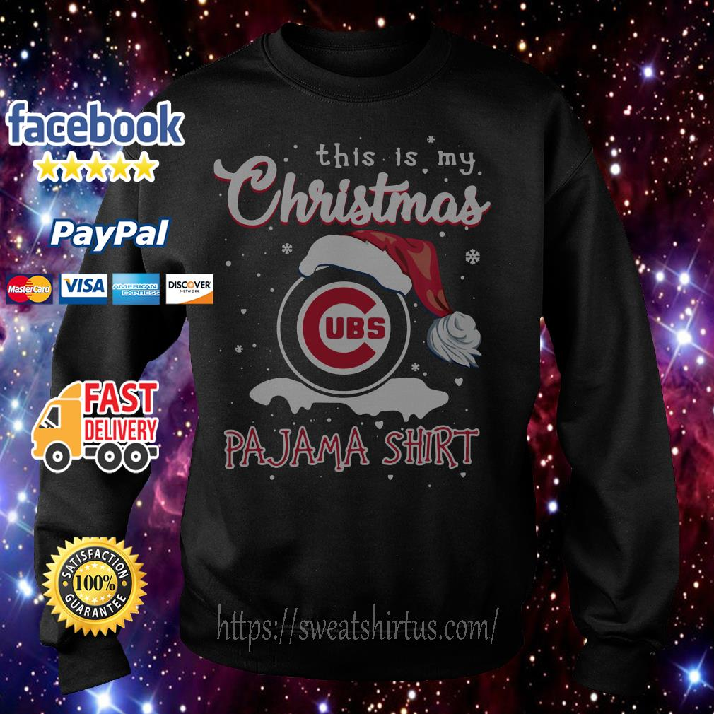 This is my Christmas Chicago Cubs Santa Pajama shirt, sweater