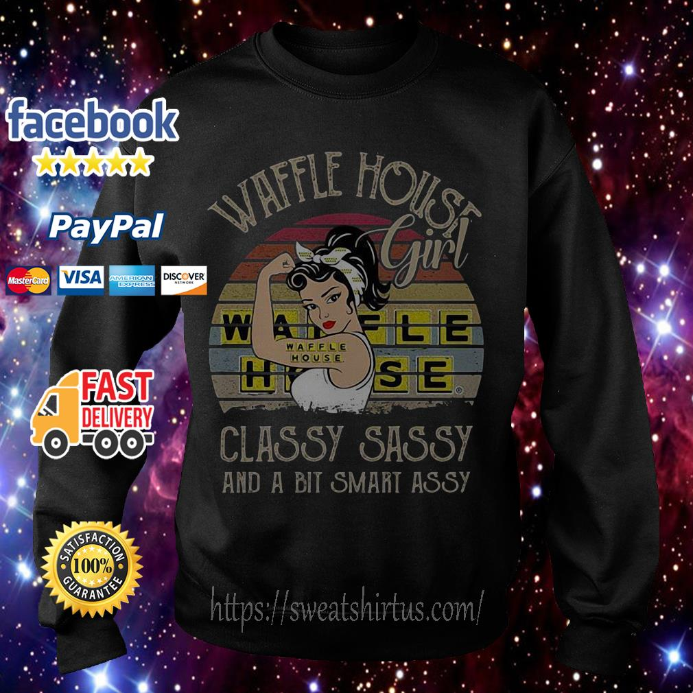 Waffle House girl classy sassy and a bit smart assy sunset Sweater