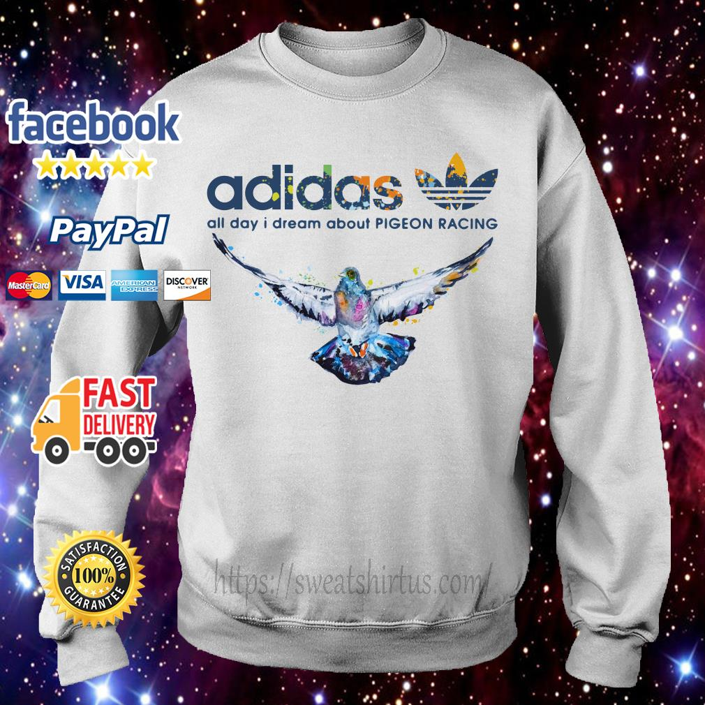 Adidas logo All day I dream about Pigeon Racing Sweater