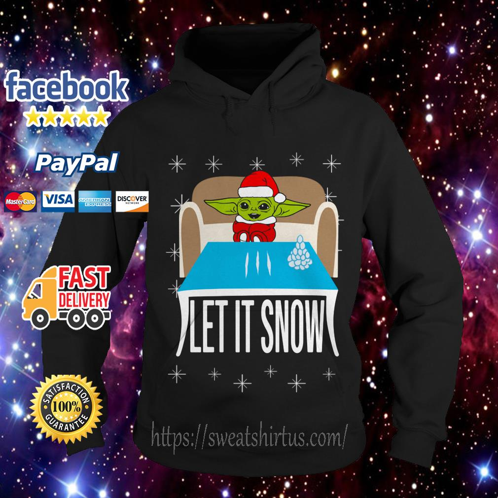 Baby Yoda Cocain let it snow Hoodie