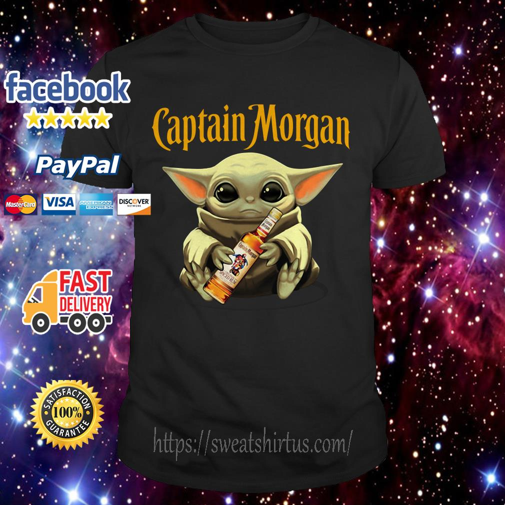Baby Yoda drink Captain Morgan shirt