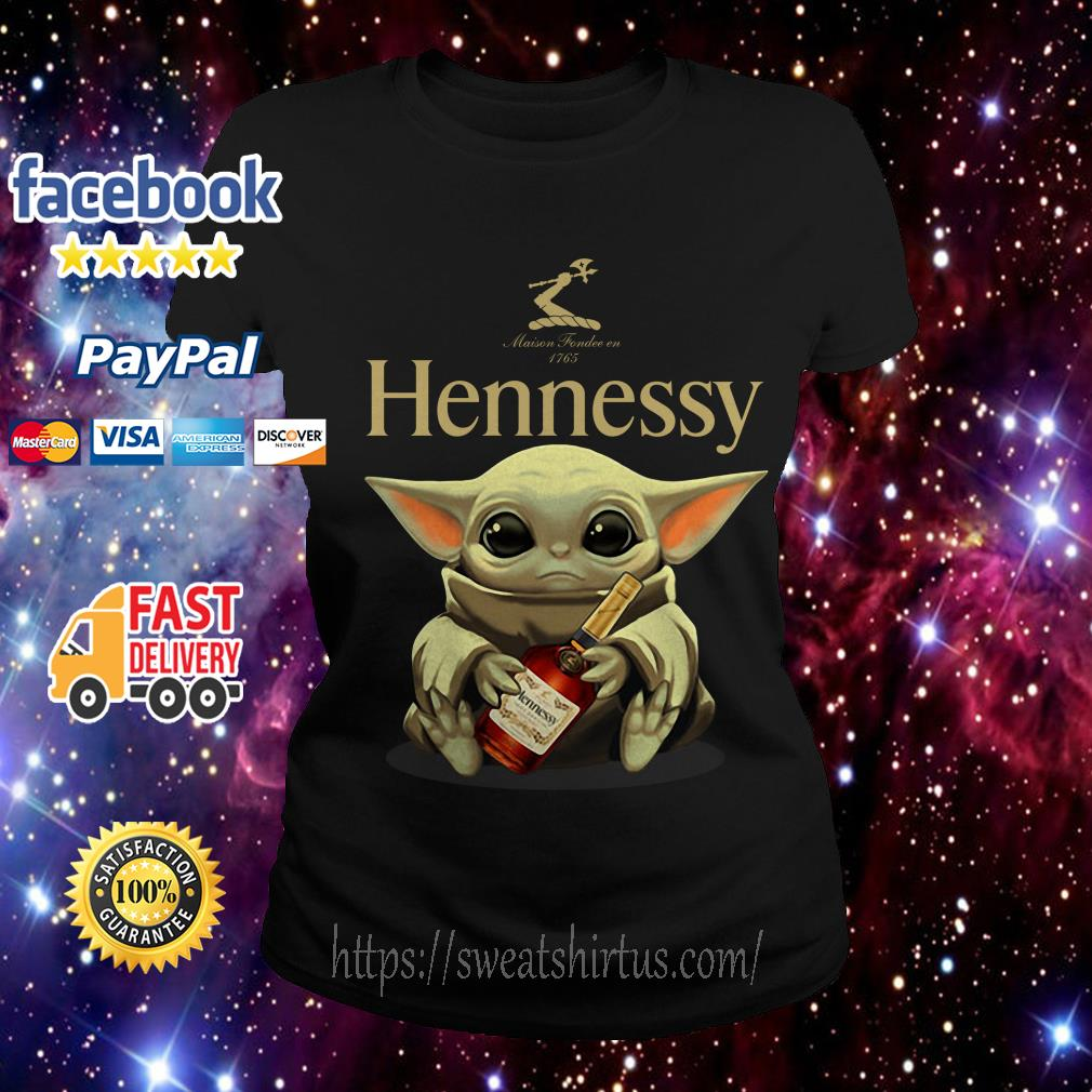 Baby Yoda drink Hennessy Ladies Tee