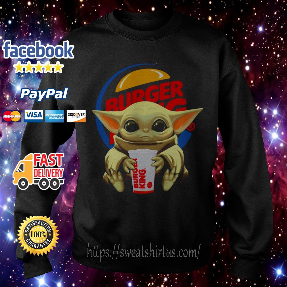 Baby Yoda hug Burger King Sweater