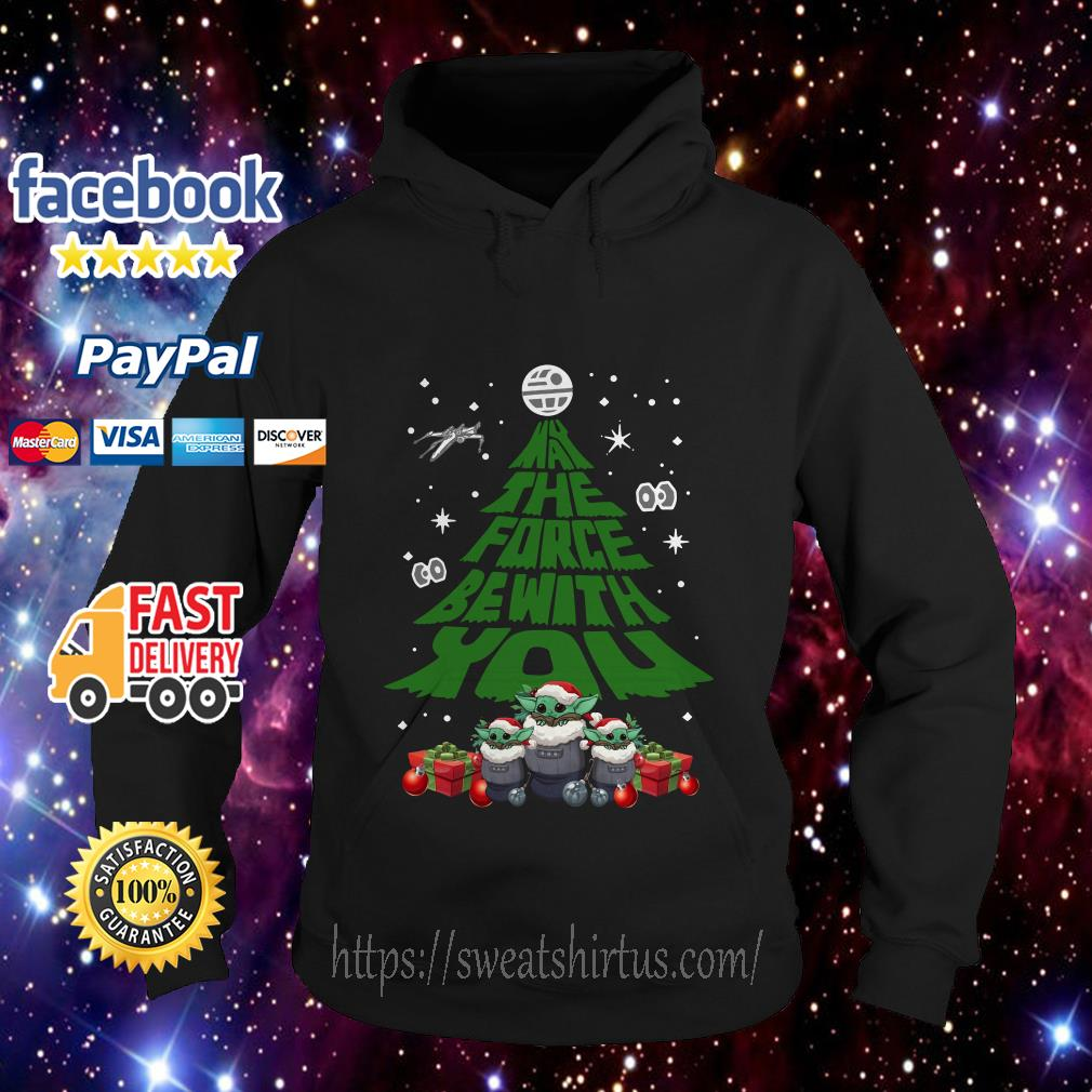 Baby Yoda May The Force Be With With You Christmas Tree Hoodie