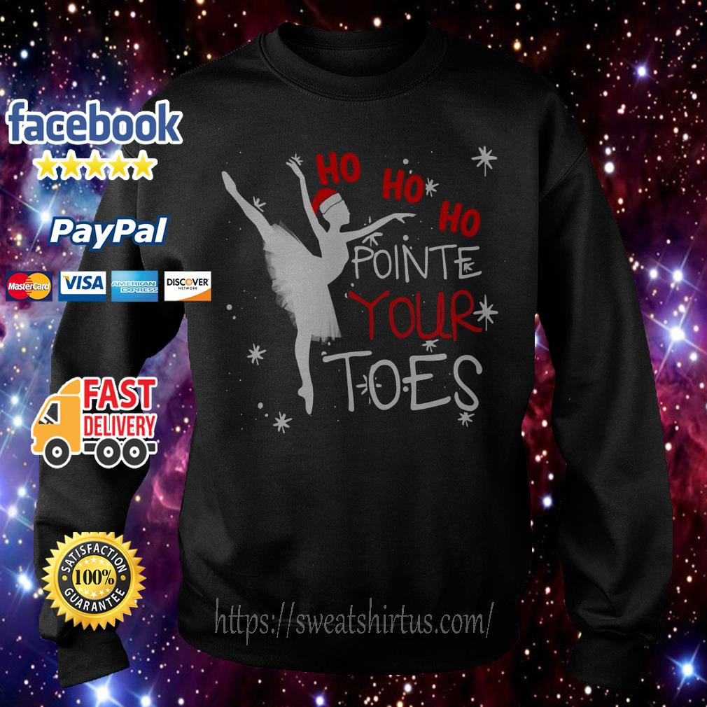Ballet Ho ho ho pointe toes Christmas shirt, sweater