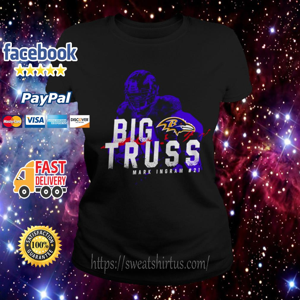 Baltimore Ravens Big Truss Mark Ingram #21 Ladies Tee