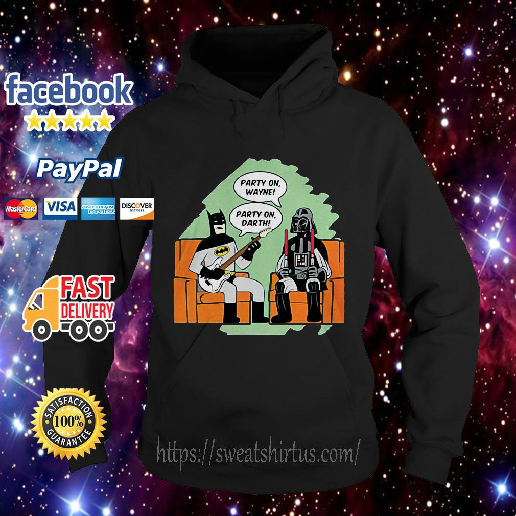Batman and Darth Vader Star Wars party on Wayne party on Darth Hoodie