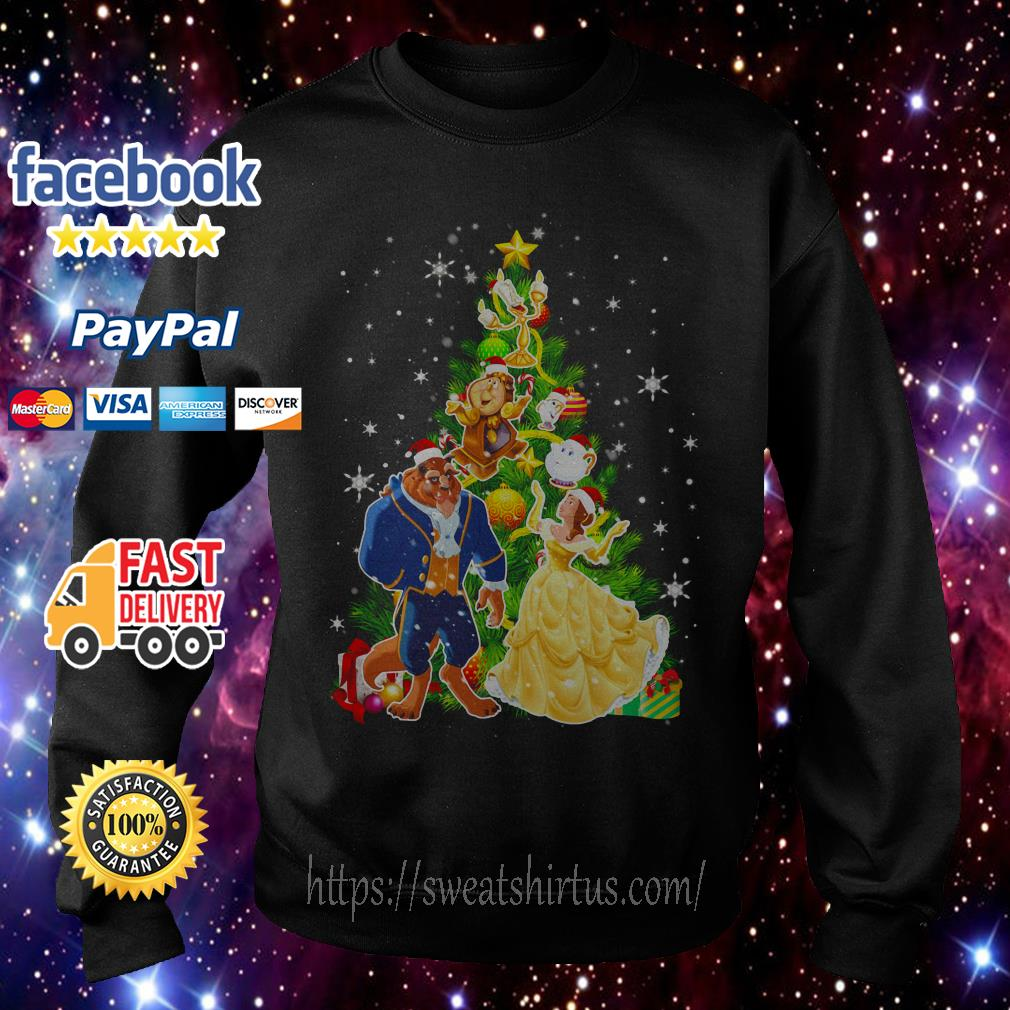 Beauty And The Beast Christmas tree Sweater