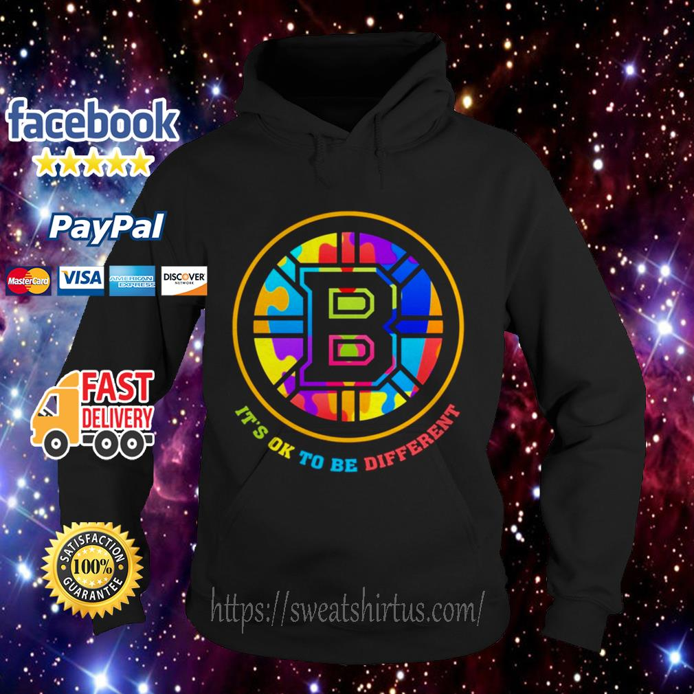 Boston Bruins Autism it's ok to be Different LGBT Hoodie