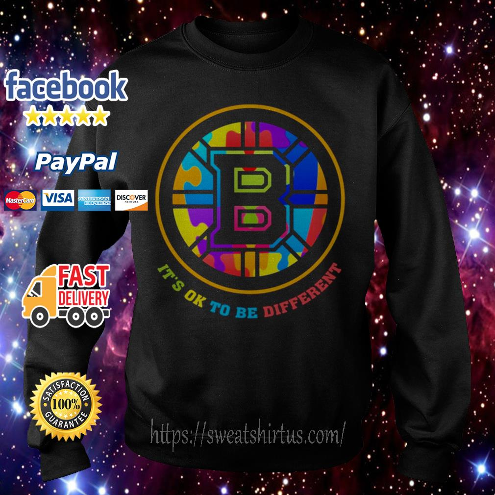 Boston Bruins Autism it's ok to be Different LGBT Sweater