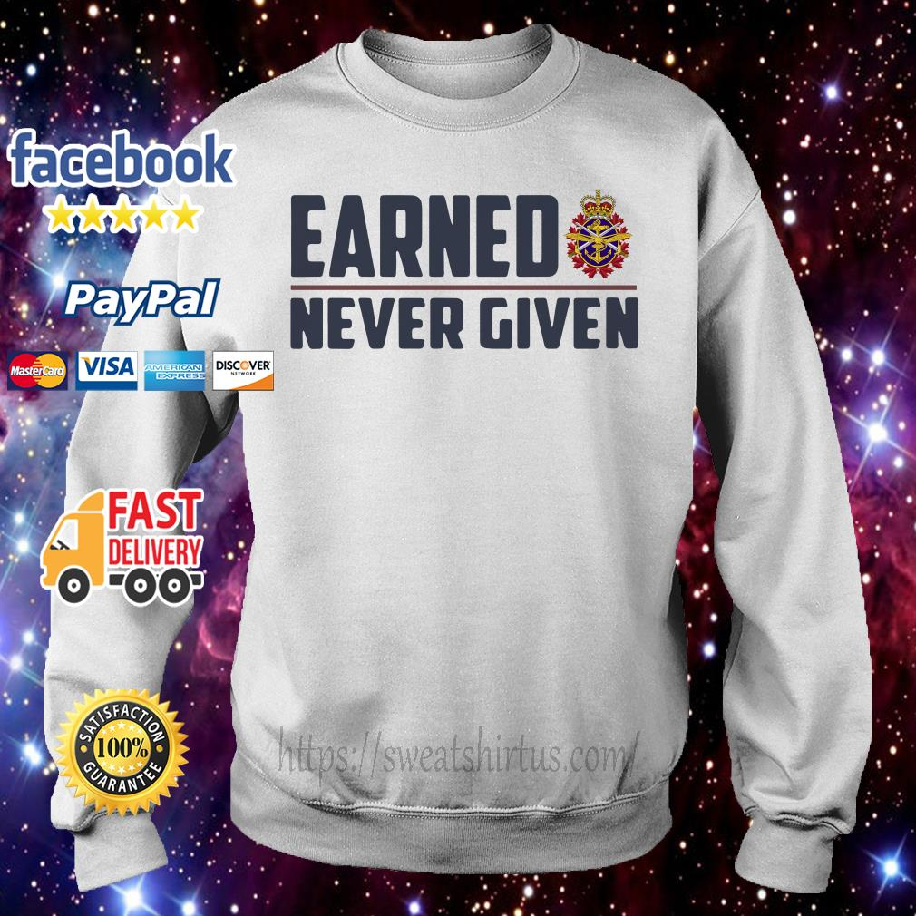 Canadian Forces Earned never given Sweater