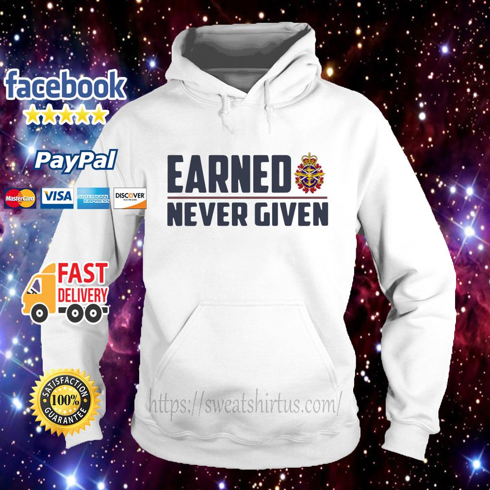 Canadian Forces Earned never given Hoodie