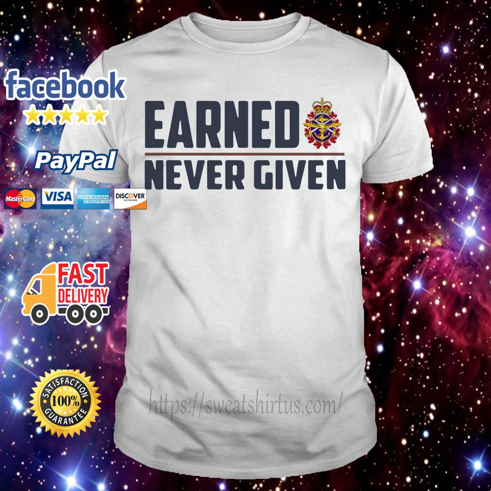 Canadian Forces Earned never given shirt