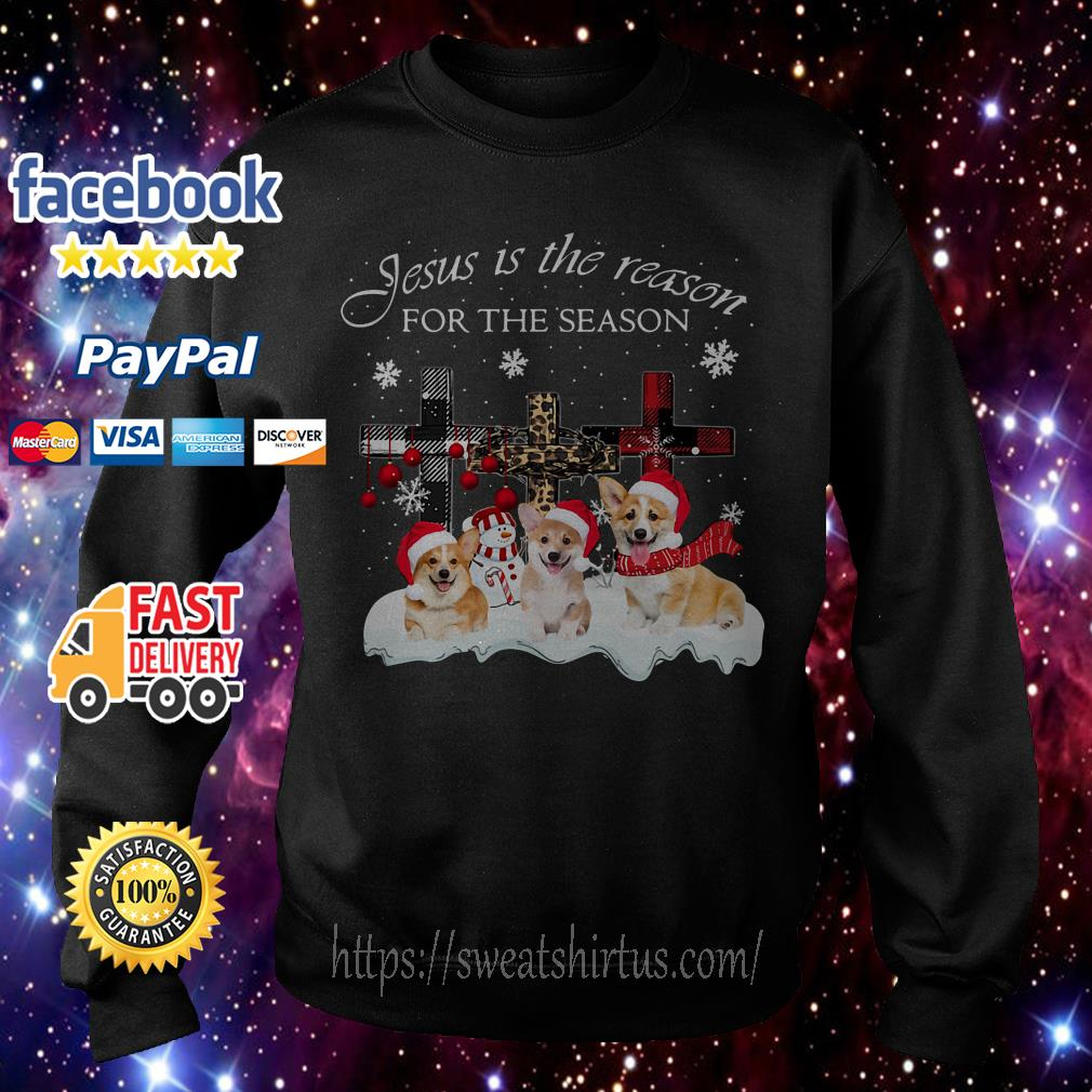 Corgi Santa Jesus is the reason for the season Christmas shirt, sweater