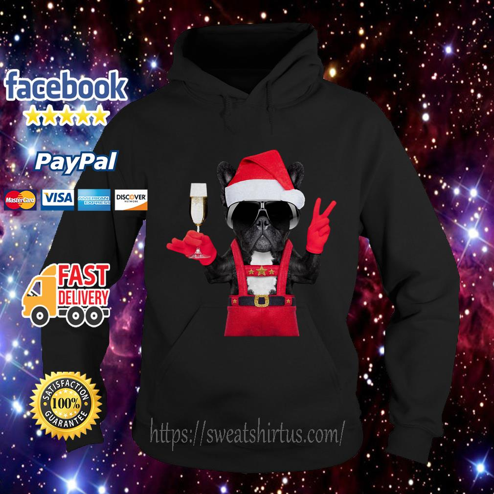 Deadpool Dog Santa hi wine Christmas Hoodie