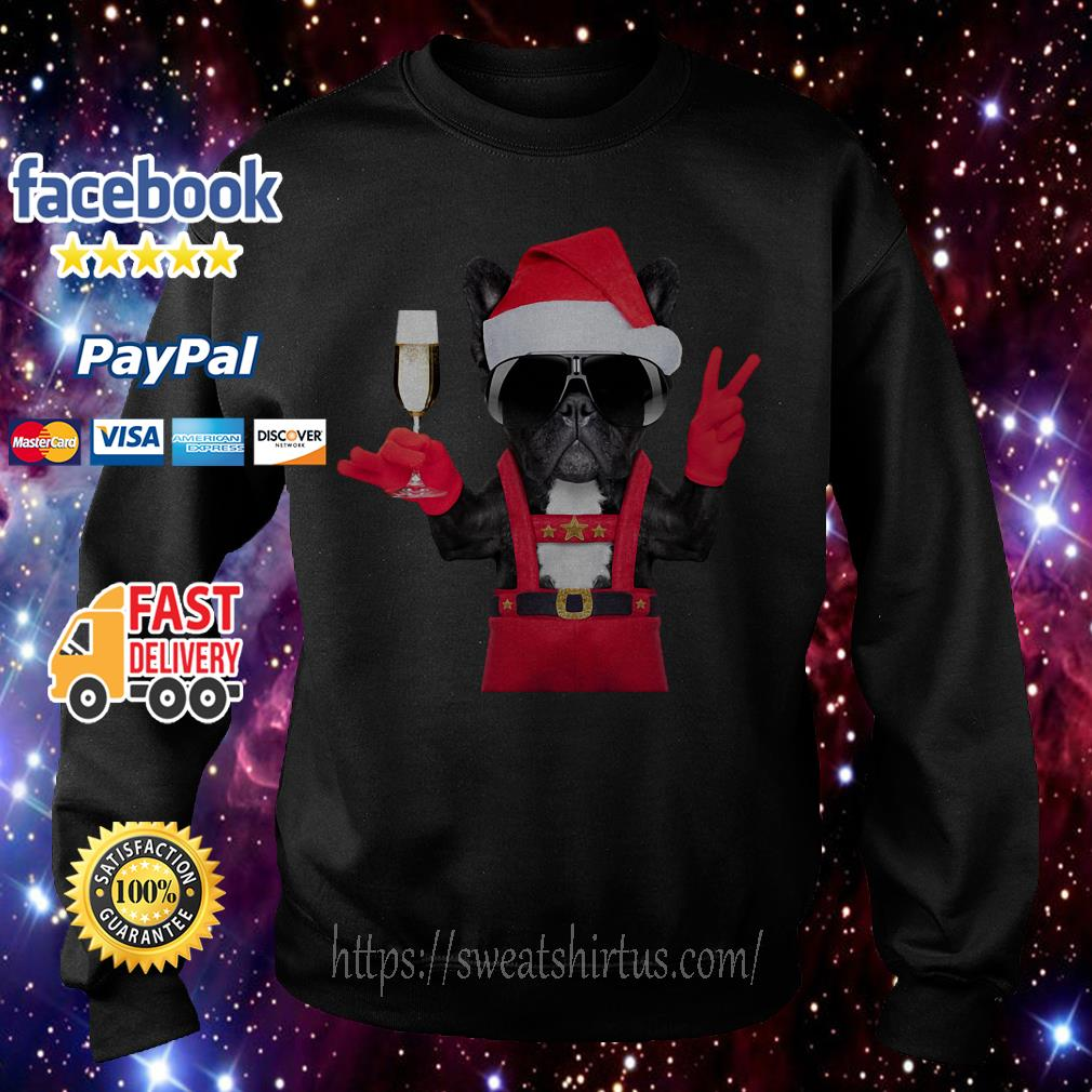 Deadpool Dog Santa hi wine Christmas shirt, sweater