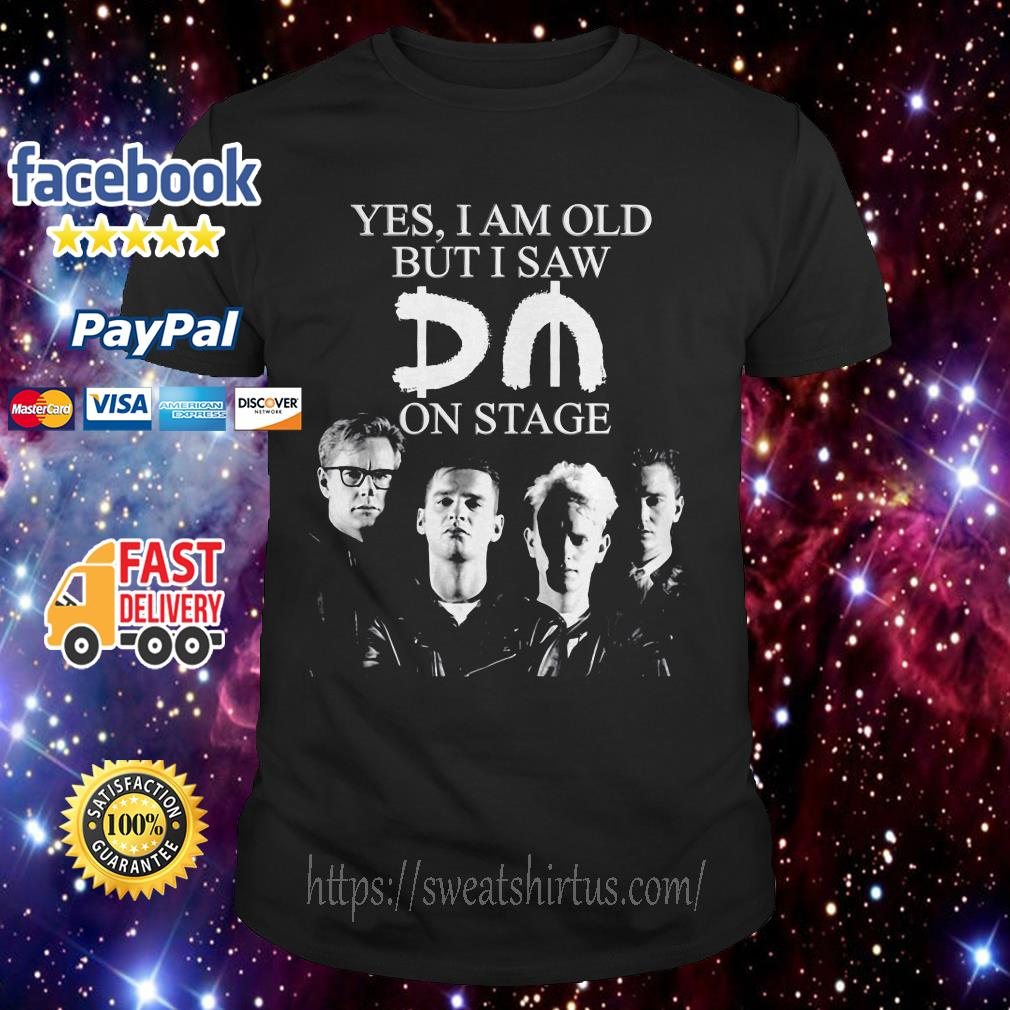 Depeche Mode yes I am old but I saw on stage shirt
