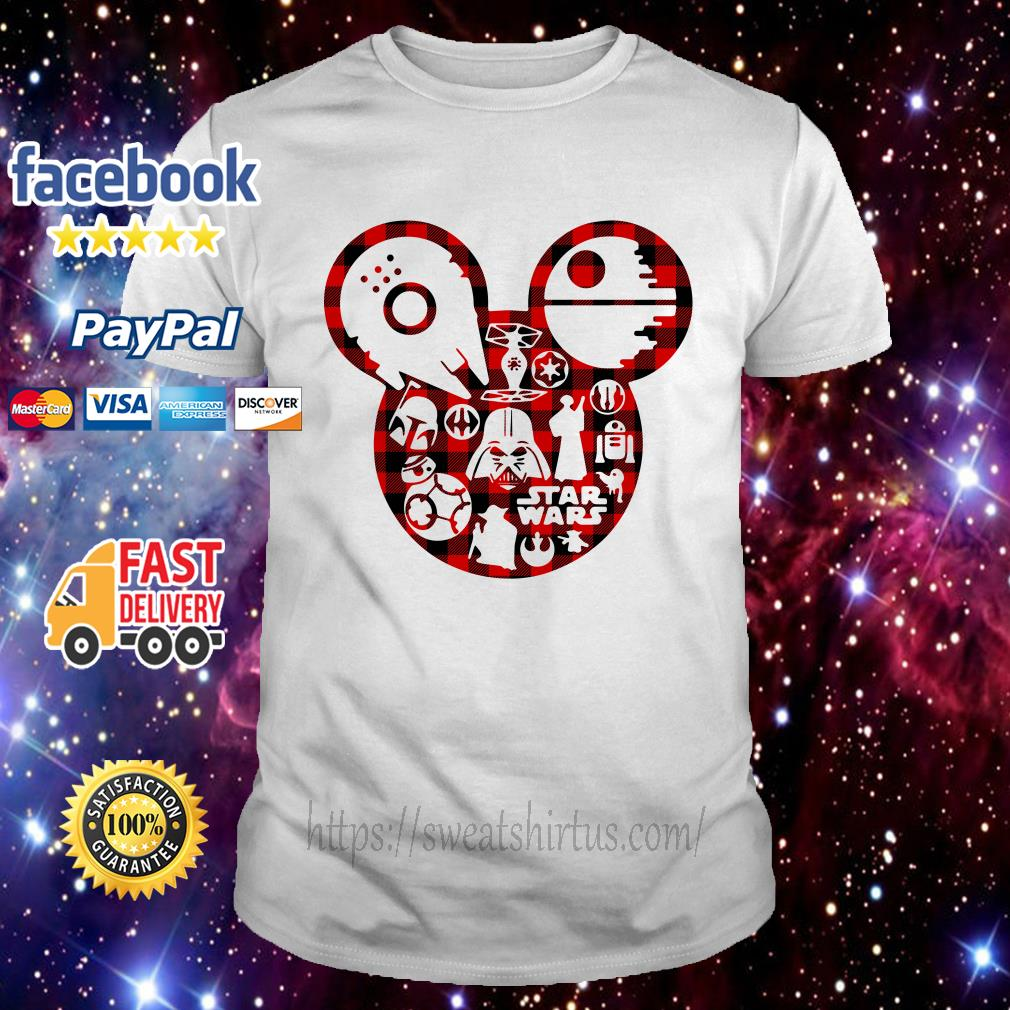 Disney Mickey Mouse Star Wars characters shirt