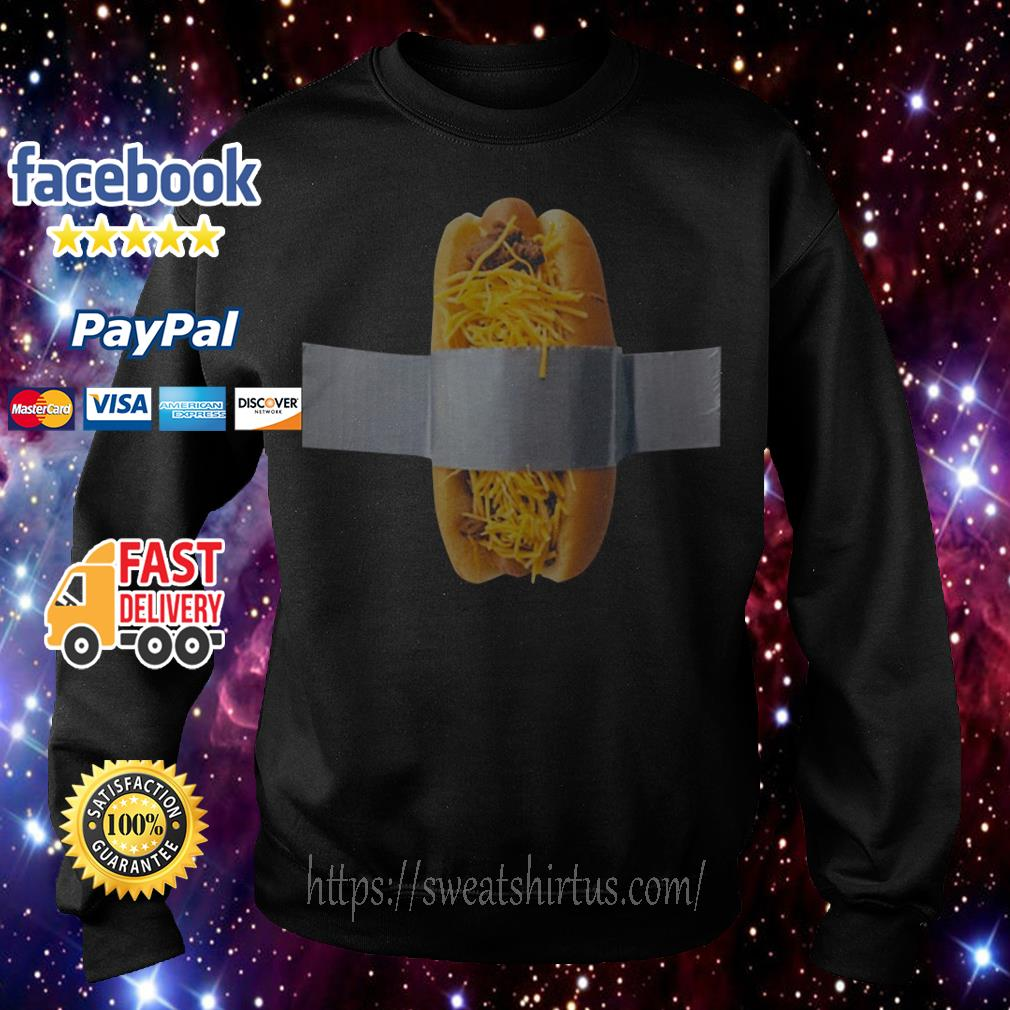 Duct taped cheese coney charity Sweater