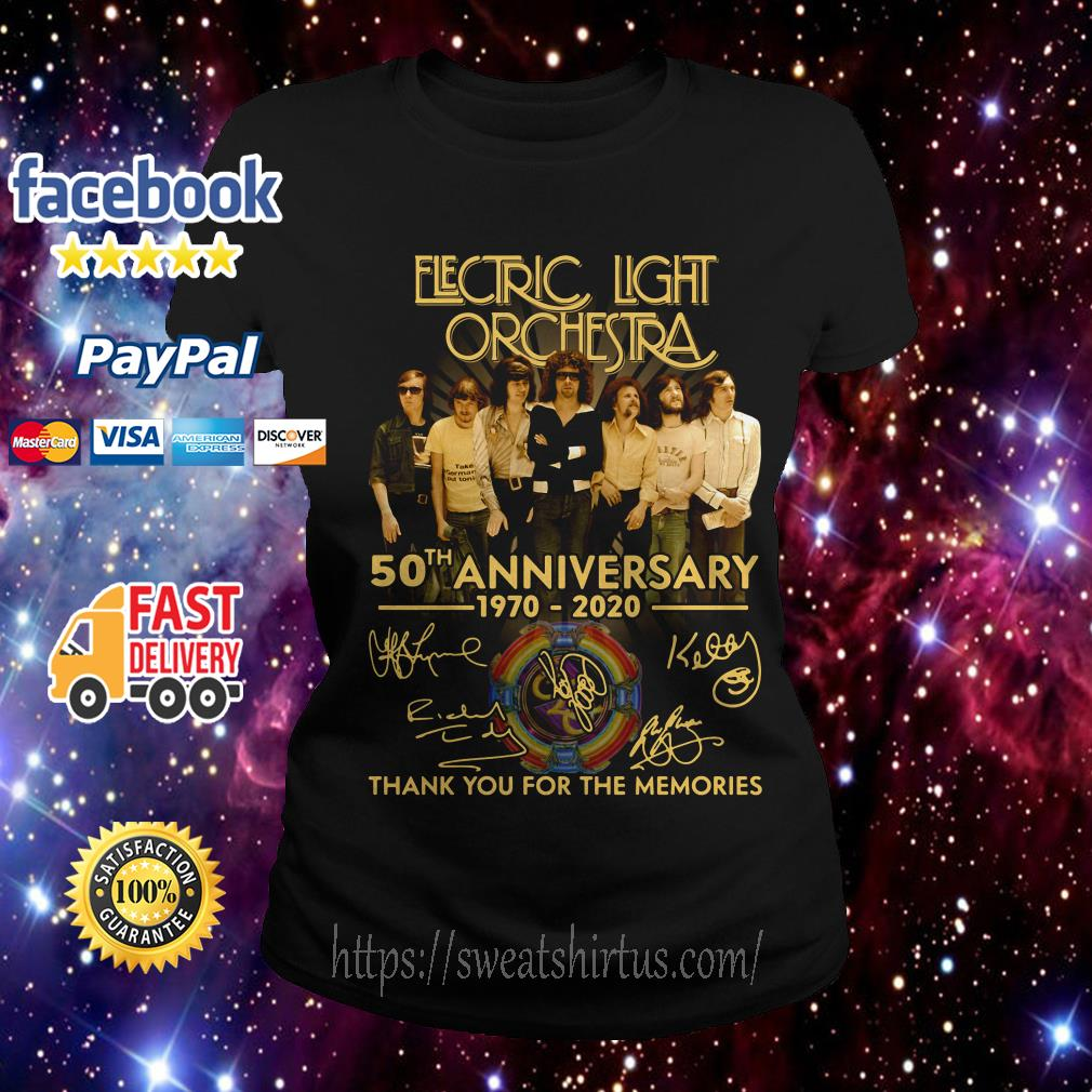 Electric Light Orchestra 50th Anniversary 1970-2020 thank you for the memories Ladies Tee