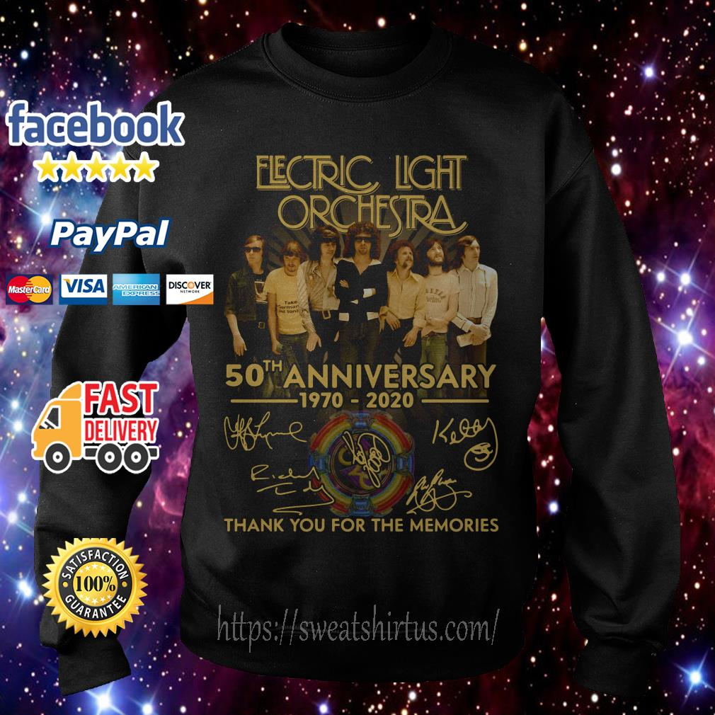 Electric Light Orchestra 50th Anniversary 1970-2020 thank you for the memories Sweater