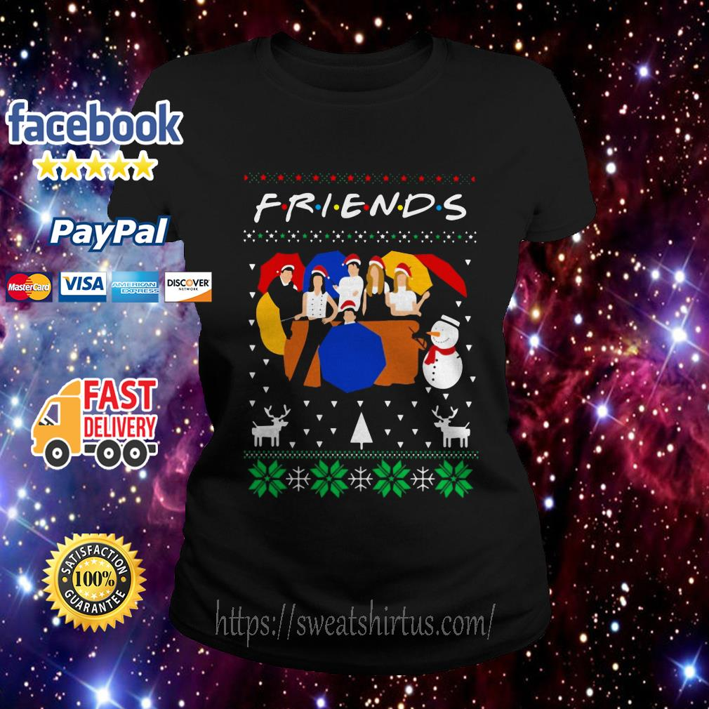 Friends TV show ugly Christmas Ladies Tee