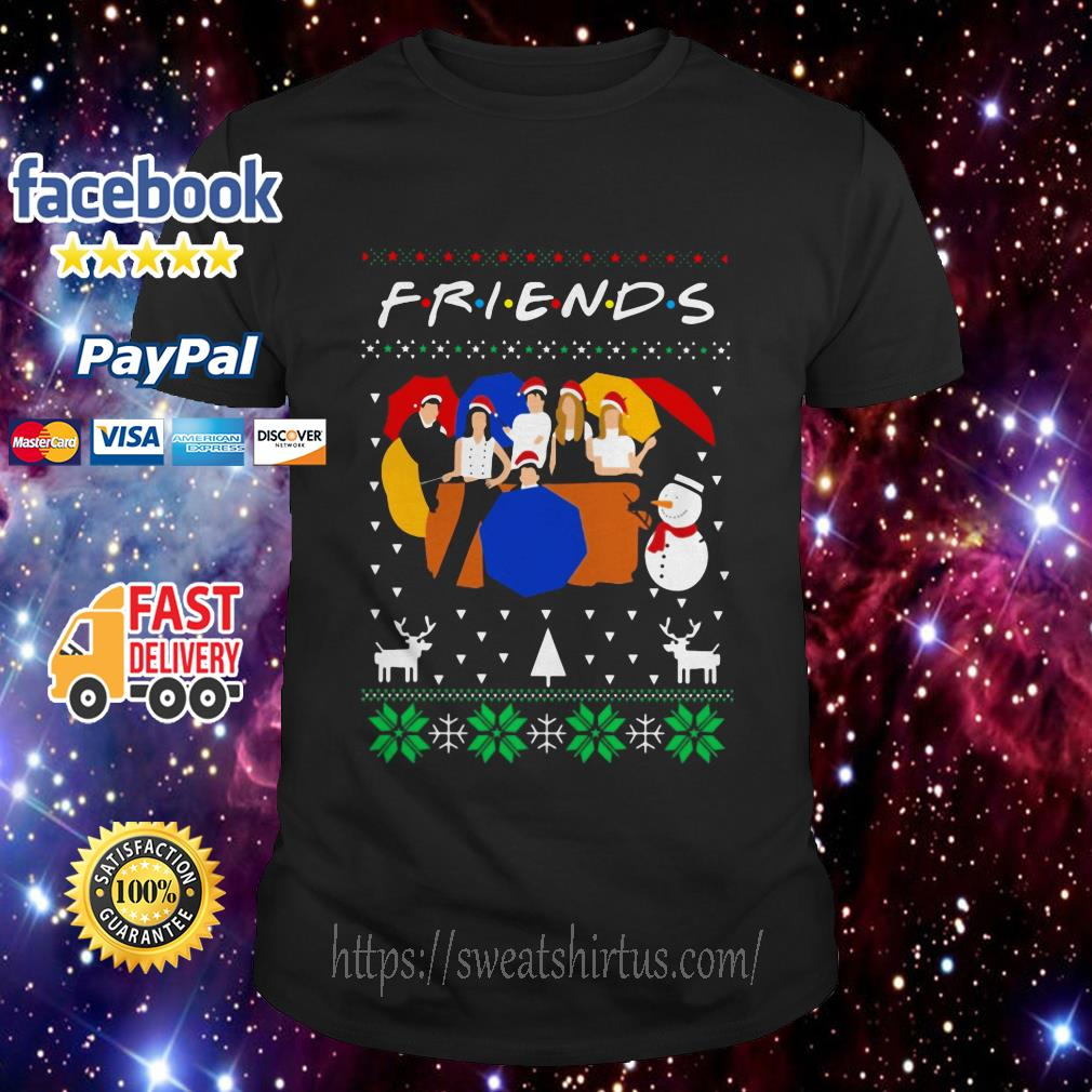 Friends TV show ugly Christmas guys shirt