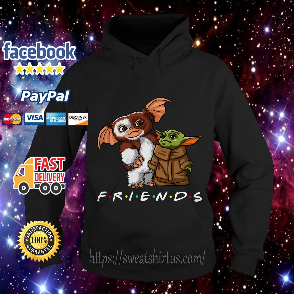 Gremlins and Baby Yoda Mandalorian Friends TV Show Hoodie