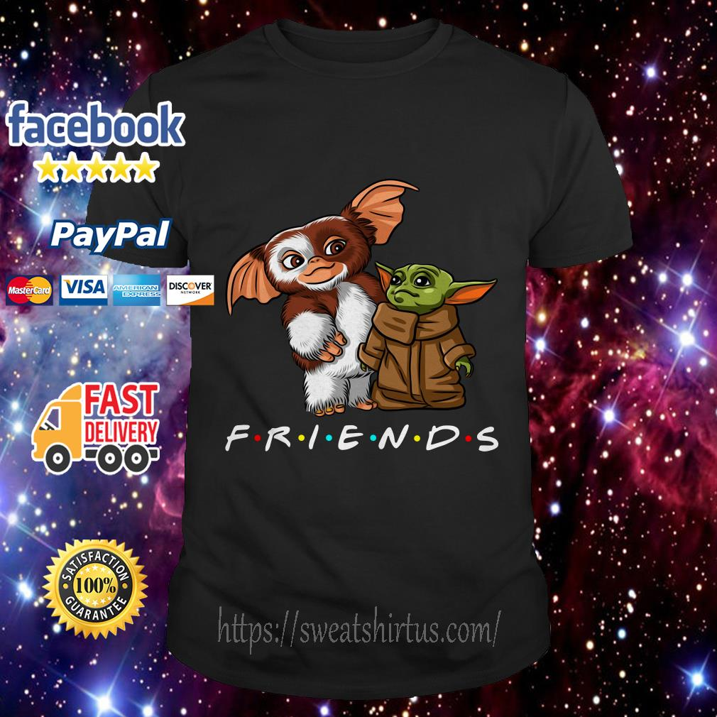 Gremlins and Baby Yoda Mandalorian Friends TV Show shirt